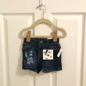 NWT Minnie Mouse denim shorts
